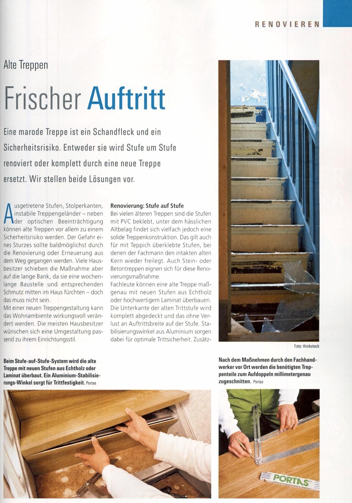 wohnzeitschriften berichten ber die portas l sungen portas schweiz renovierung. Black Bedroom Furniture Sets. Home Design Ideas